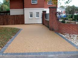 resin drive with block paved edging