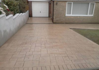 pattern imprinted concrete driveways newcastle