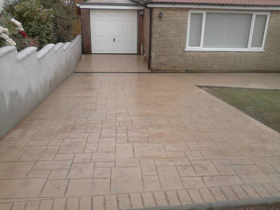 pattern imprinted concrete driveways newcastle